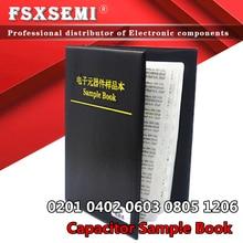 80/90/92 значения x 50 шт. 25 шт. 0201 0402 0603 0805 1206 образец конденсатора пФ ~ 10 мкФ SMD чип конденсаторы набор в ассортименте