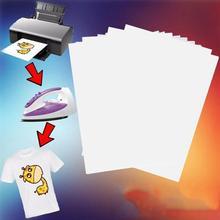10pcs/set T Shirt A4 Transfer Paper Iron on Heat Press Light Fabrics Convenient Inkjet Printing Paper for T-shirt A4 Process