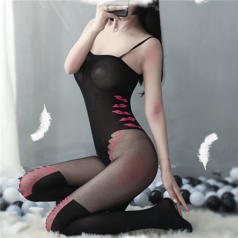 Sexy lingerie porno sexy costume women intimates stockings cosplay underwear pajama hose black Elastic erotic lingerie hot|Babydolls & Chemises| - AliExpress