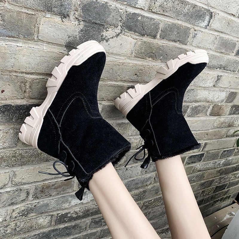 ERNESTNM kürk kar botları kadınlar yüksek kalite akın kauçuk kışlık botlar bayan sıcak yumuşak ayak bileği patik rahat ayakkabı Botas Mujer