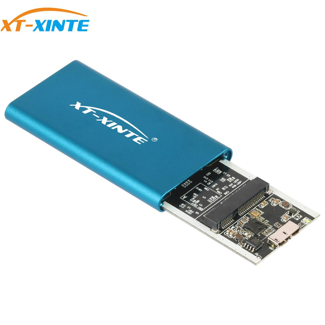 XT-XINTE External Enclosure Hard Drive Mini MSATA To USB 3.0 HDD Hard Drive Adapter Case For MSATA SSD Case Box
