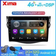 "XIMA New!! 9"" 2dinCar Android 9.0 Car DVD Player forToyota RAV4 Rav 4 2007 2008 2009 2010 2011 Car Radio GPS Navigation Player"