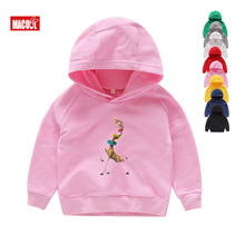 Blue Student Hoodies Madagascar Penguins Dance 100% Cotton Kids Sweatshirts Tops Cute Image Funny 2T-8T