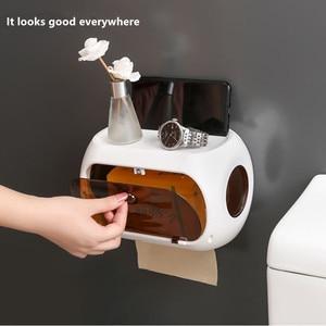 Image 4 - Bathroom tissue box Free punch paper towel holder Paper finishing rack phone stand Portable toilet tray Bathroom shelf