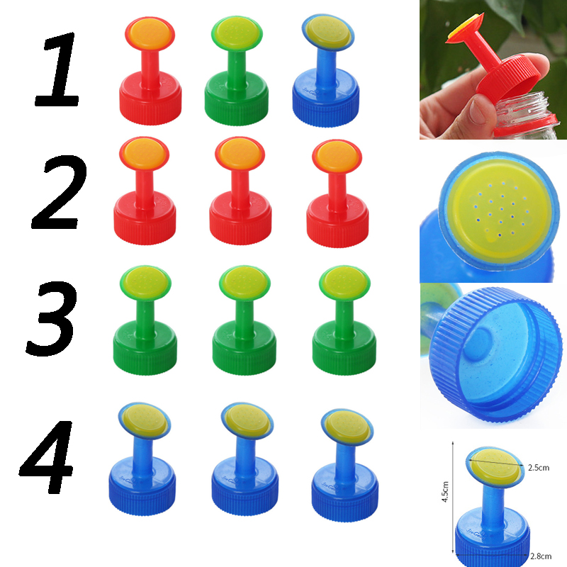 H53735e9915ff4f779bd68c61fbaeaabc6 3pcs Gardening Plant Watering Attachment Spray-head Soft Drink Bottle Water Can Top Waterers Seedling Irrigation Equipment