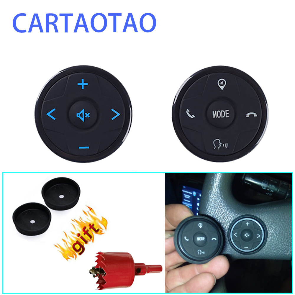 Universal steering wheel controller for 2 din Android car DVD GPS navigation steering wheel radio remote control button black