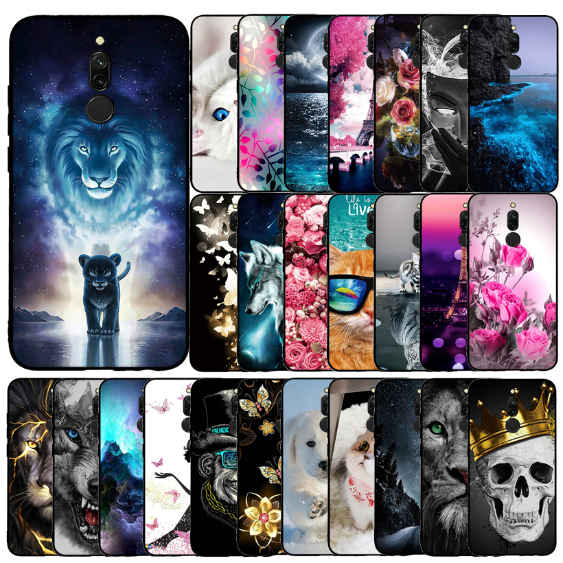 For Redmi <font><b>8</b></font> Case For Xiaomi Redmi <font><b>8</b></font> Case Anime Cartoon TPU Fundas Coque Back Cover For Xiaomi Redmi <font><b>8</b></font> Redmi8 Phone Case Silicone image