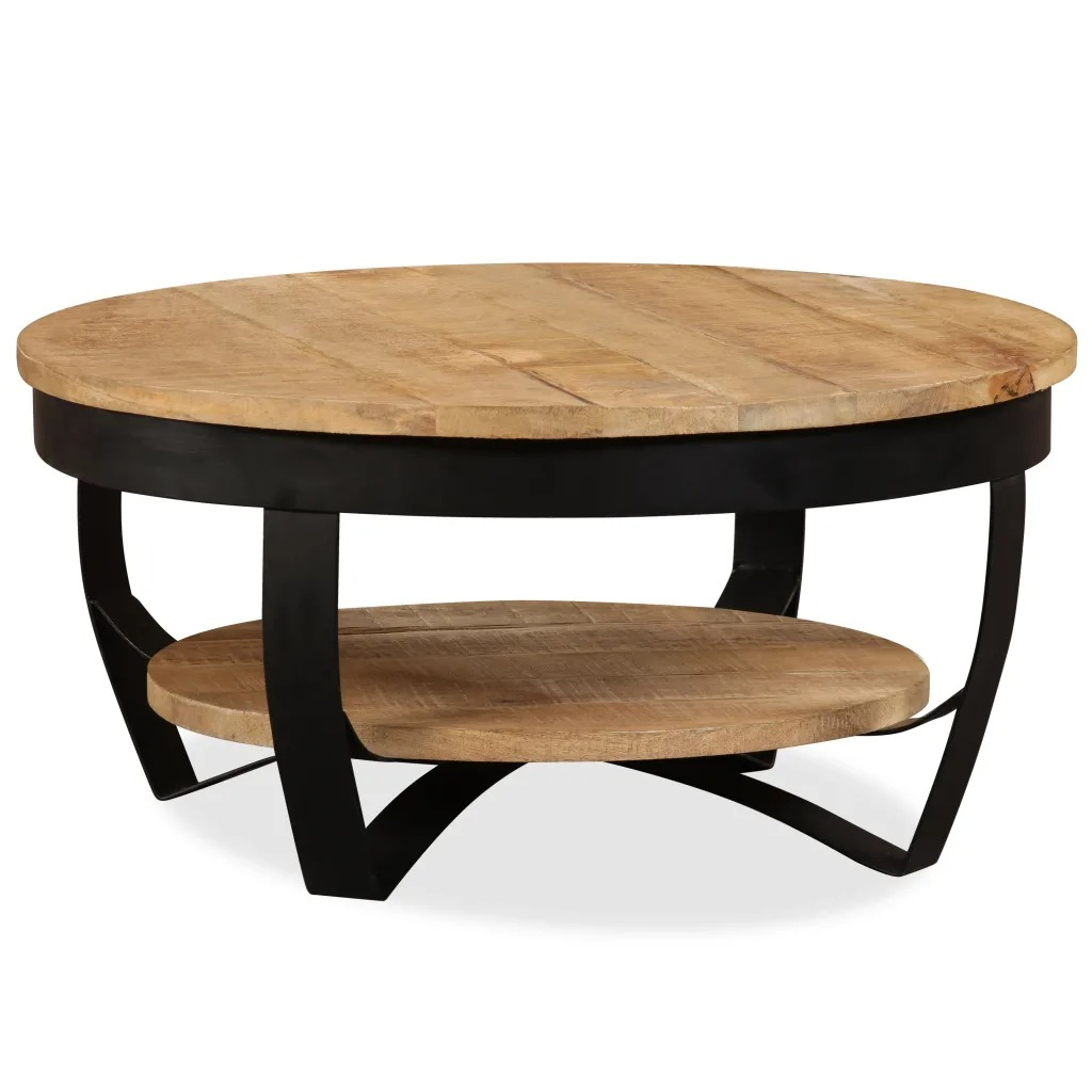 VidaXL Coffee Table Solid Rough Mango Wood 65x32 Cm 244675