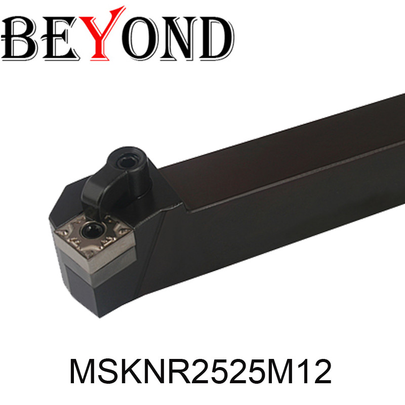 BEYOND MSKNR 2525 MSKNR2525M12 MSKNL2525M12 Lathe External Turning Tools 25mm Carbide Inserts SNMG CNC Boring Bar Machine Tool