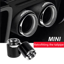 Black Chrome and Carbon Fiber Muffler Tip Fit for Mini Cooper Exhaust Tip R55 R56 R57 R58 R59 R60 R61 F54 F55 F56 F57 F60