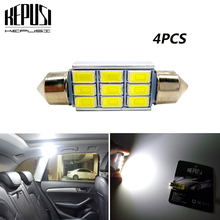4x Festoon 31mm 36mm 39mm 41mm LED Bulb C5W C10W 5630 SMD Canbus Error Free Auto Interior Reading Doom Lamp Car Styling Light