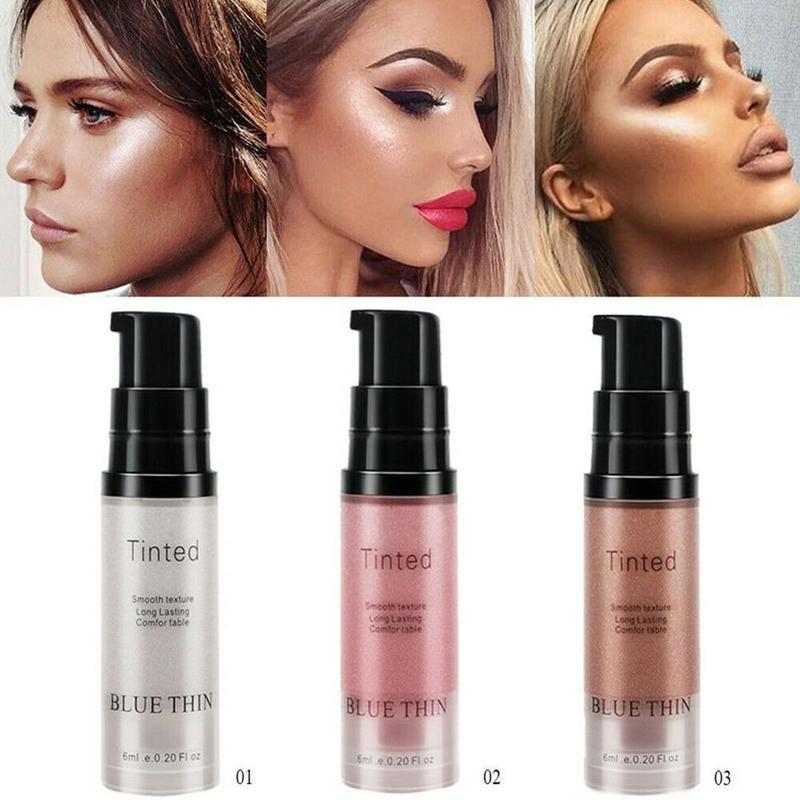 Oil-control Face Liquid Highlighter Cream Illuminator Makeup Shimmer Glow Kit Make Up Facial Contouring Brighten Shine Cosmetic