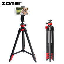 ZOMEI Phone tripod lightweight professional mini tripode Bluetooth Remote control smartphones clip for phone projector telescope