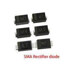 100pcs/lot SMA Rectifier diode 1N4001 M1 1N4004 M4 1N4007 M7 FR107 RS1M FR207 RS2M HER108 US1M SF18 ES1J SF14 ES1D DO-214AC