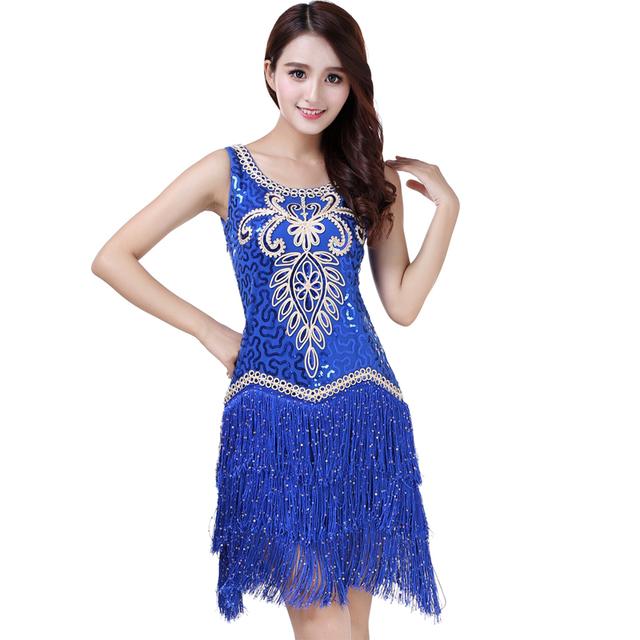 Roaring 20's style dress for women in blue