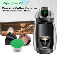 New 3rd Generation Nescafe Dolce Gusto Coffee Capsule Pod Filters Cup Refillable Reusable Dolci Gusto Coffee Dripper Tea Baskets(China)