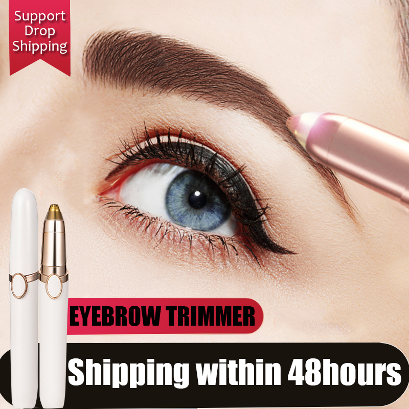NEW Brand 3 Colors Electric Eyebrow Trimmer Makeup Mini Eye Brow Shaver Razor Portable Epilator Facial Hair Remover For Women