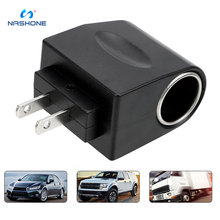Nashone AC 220V To DC 12V EU US Plug Converter Car Cigarette Lighter Adapter Auto Accessories
