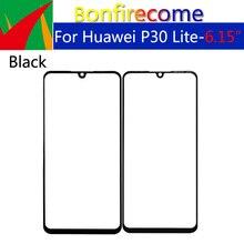 10Pcs \ lot için P30 Lite \ Nova 4E dokunmatik ekran ön dış cam Lens için P30 LCD cam yedek
