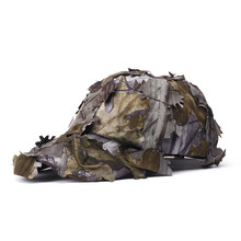 Cotton Camouflage Military Hat Bionic Leaf Hunting Animals Woodland Sniper Cap(China)