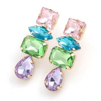 Rhinestone Water Drop Dangle Earrings 5
