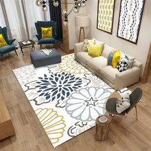 Скандинавский простой alfombra 3d ковер печать спальня офис
