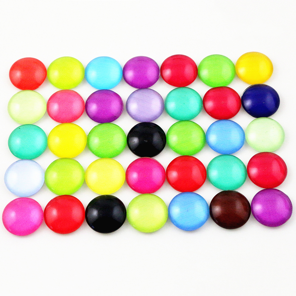 Hot Sale 50pcs 12mm  Mixed Handmade Photo Glass Cabochons  (G2-40)