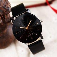 Venda quente moda feminina casual quartzo pulseira de couro relógio de pulso relógios analógicos valentine presente cristal relógios de pulso #0929