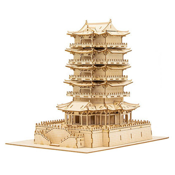 New Hot DIY Wooden Puzzle Model Kit Jigsaw Crafts For Home Decor - Shao Yang House/Carousel