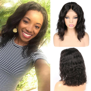 Image 2 - 4x4 Lace Closure Wig Body Wave Wig Short Bob Lace Front Human Hair Wigs Pre Plucked Brazilian Remy Hair Wig For Black Women