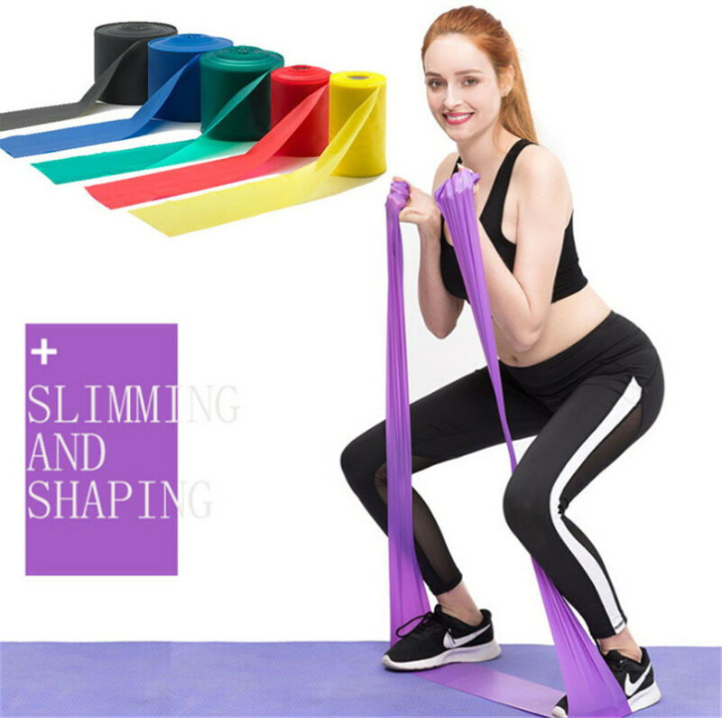 15MThera Band Resistance Bands Theraband Ballet Pilates Yoga Gymnastics Stretch Thickening Yoga Belt 1 Volume