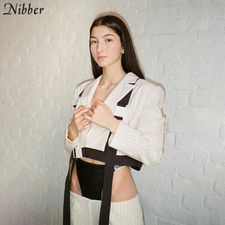 Nibber büro damen weiße Dünne weichem mantel 2019 herbst Winter langarm high street casual Outdoor dünne tops jacken mujer