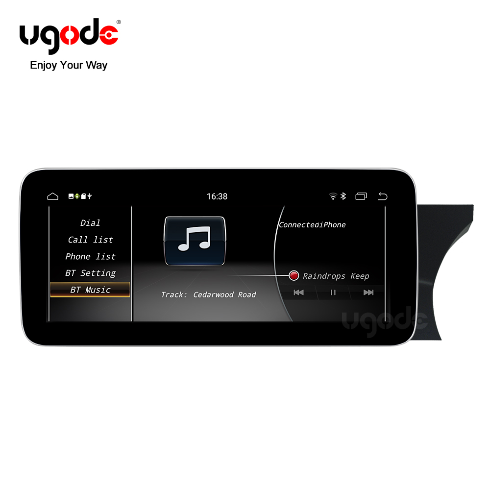 Ugode 2011-14 <font><b>W204</b></font>/S204 <font><b>RHD</b></font> <font><b>Android</b></font> 9.0 Screen Car GPS Navigation Multimedia System Music Video Player For Benz C class NGT4.5 image