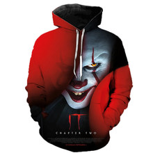2019 Horror Movie IT Clown 3D Printed Hoodie Sweatshirts IT Chapter Two Film Pullover Men Women Casual Streetwear Funny Hoodies(China)