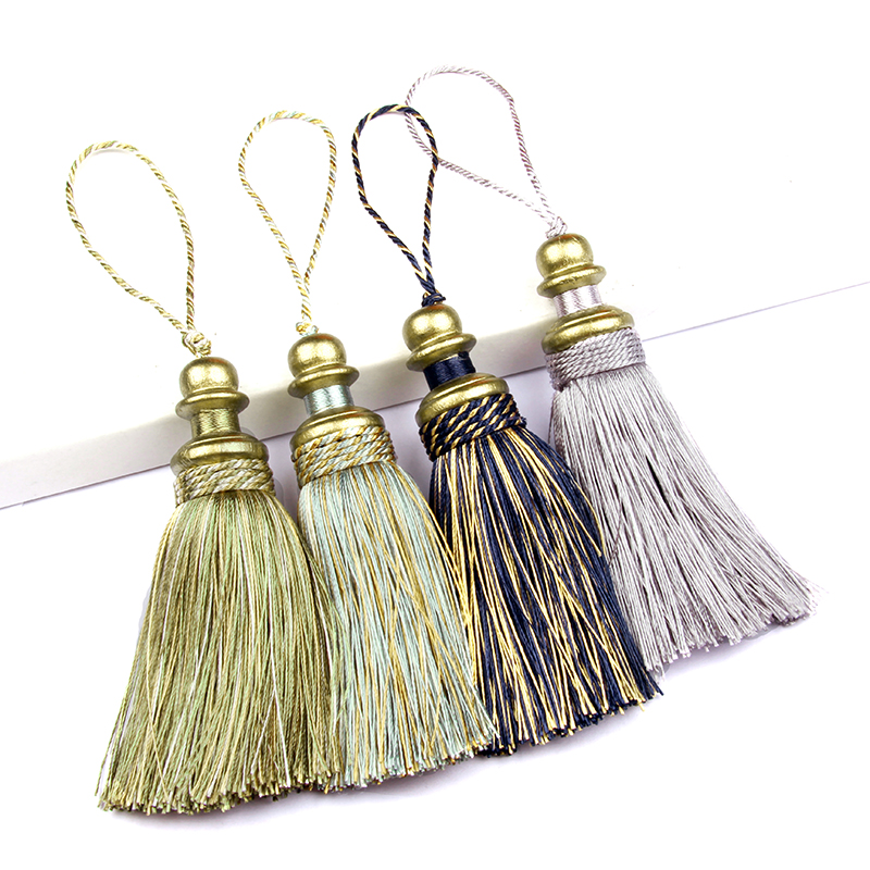 1PC Colorful Hanging Rope Silk Tassels For Crafts Trim Fringe Curtain Decor Home Accessories Living Room Jewelry DIY Decorative