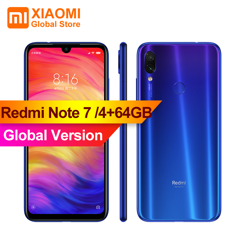 Global Version Original XIAOMI Redmi Note 7 4GB RAM 64GB ROM S660 Smartphone 48MP+13MP Camera Dual AI Full Screen 4000mAh