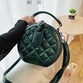 Дизайнерская брендовая роскошная женская сумка 2021, круглая сумочка, сумка на плечо в клетку со стразами, известные сумки через плечо, кошель...
