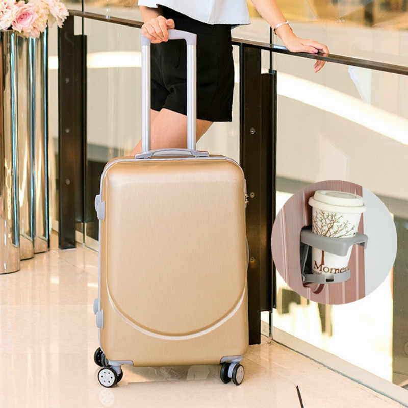 Walizki wózek w stylu Vintage ABS + PC Spinner Rolling przechowalnia podróż torba podróżna dla kobiet 20 cal kabiny walizki koła 24/26 cal Retro bagażnika