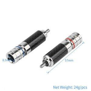 Image 3 - 4PCS Audio Jack  RCA Plug Connector Solder Wire Splice Adapter DIY Audiophile Eutectic Carbon Fiber Speaker RCA Male Plug