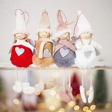 Christmas Pendant Cute Angel Plush Doll Hanging XMAS Tree Party Decor Toys Creative Home Decoration Charm
