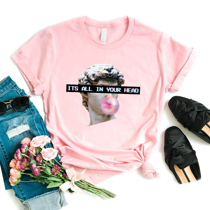 Vaporwave Aesthetic T Shirt Harajuk Tee Tops Sad Girl Retro Anime T-shirt Cyberpunk Fashion Male Female Tee Shirt Funny Tshirt(China)