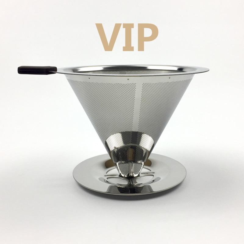 נירוסטה קפה בעל מסנן לשימוש חוזר קפה מסנני טפטף v60 טפטוף קפה סלי