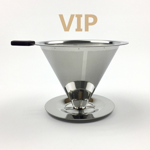 Stainless Steel Coffee Filter Holder Reusable Coffee Filters Dripper v60 Drip Coffee Baskets(China)