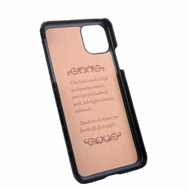 YXAYN Genuine Leather Crocodile Pattern Strap Ultra Thin Hard for iphone 11 Pro max X XS XR 7 8 Plus Phone Case 5