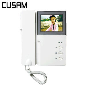 CUSAM Doorbell with Handset Monitor Display Phone-System Video-Intercom LCD Audio Two-Way