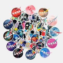 62Pcs/Set Stickers Universe Planet Astronaut Cool Fashion Decor For Skateboard Laptop Pad Guitar Trunk Bicycle Fridge