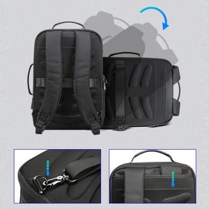Image 5 - BOPAI Men Black Leather Backpack USB Charge Bagpack School Bags Hidden Pocket Anti Theft Backpack Men Laptop Backpack sac a dos