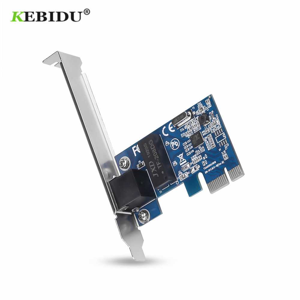 Kebidu 1000 mbps gigabit pci-e placa de rede ethernet pci express 10/100/1000 m RJ-45 lan adaptador conversor controlador de rede
