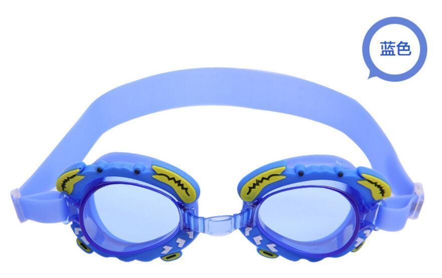 Goggles CHILDREN'S Cartoon Silica Gel PC Lenses Students Men And Women Baby Waterproof Anti-fog Earplug Boxed Swimming Glasses
