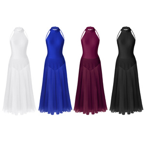 Image 2 - Femmes Femme danse robe ballerine justaucorps contemporain Dancewear Costumes Street Wear Ballroom danse compétition robes